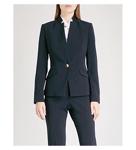 TED BAKER Ulmia Ottoman crepe blazer (Navy