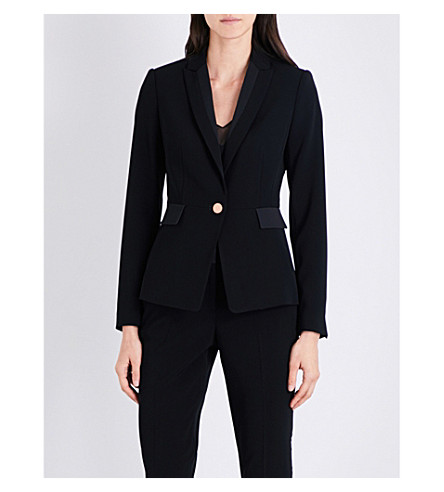 TED BAKER Ottoman peak-lapel woven jacket (Black