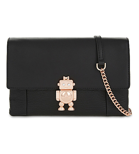TED BAKER Jemms leather cross-body bag (Black