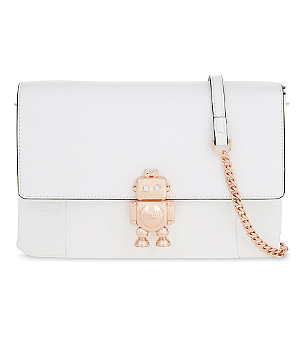 TED BAKER Jemms leather cross-body bag (Ivory