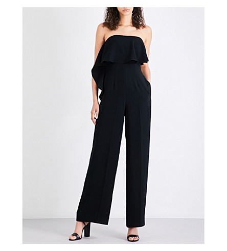 TED BAKER Teara crepe jumpsuit (Black
