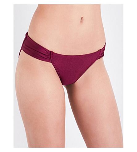 TED BAKER Classic bikini bottoms (Deep+purple