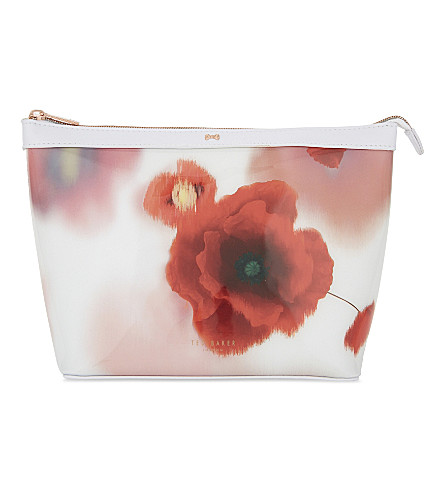 TED BAKER Aarna Playful Poppy large wash bag (Mid+red