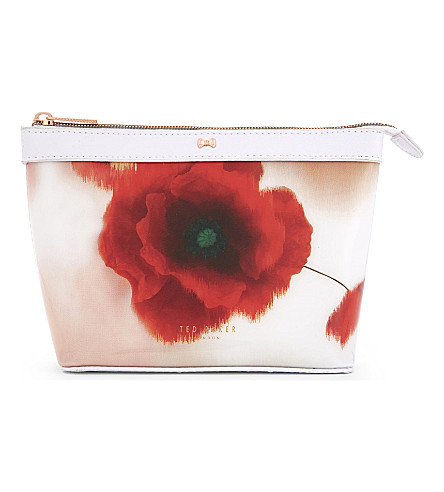 TED BAKER Bernice make-up bag (Mid+red