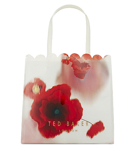 TED BAKER Charcon Playful Poppy tote (Mid+red