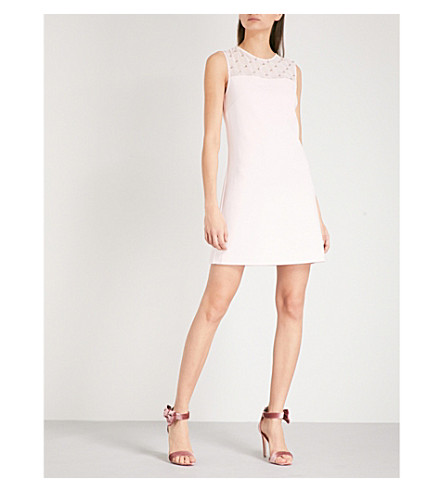 TED BAKER Danyel sleeveless woven mini dress (Baby+pink