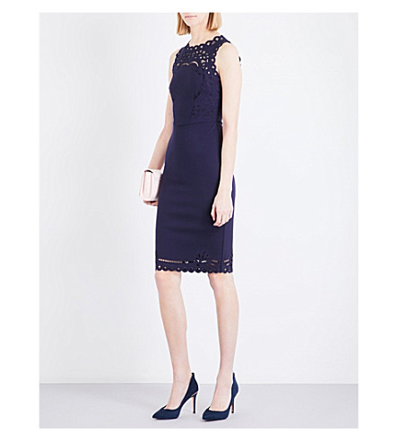 TED BAKER Verita crepe dress (Navy