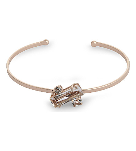 TED BAKER Britte crystal baguette cuff (Clear