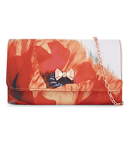TED BAKER Poma Playful Poppy clutch (Mid+red