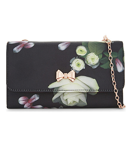 TED BAKER Kensington grosgrain evening clutch (Black