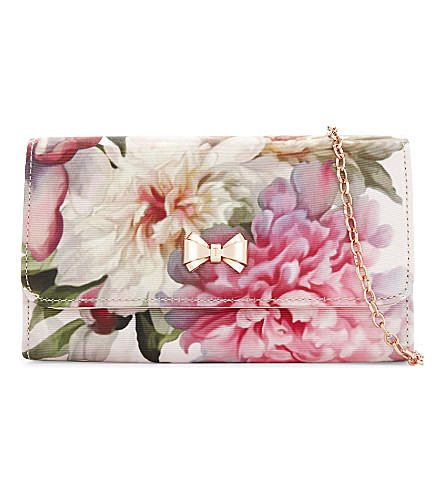 TED BAKER Misoso painted clutch (Baby+pink