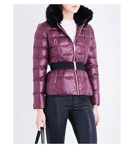 TED BAKER Down-filled padded shell jacket (Maroon