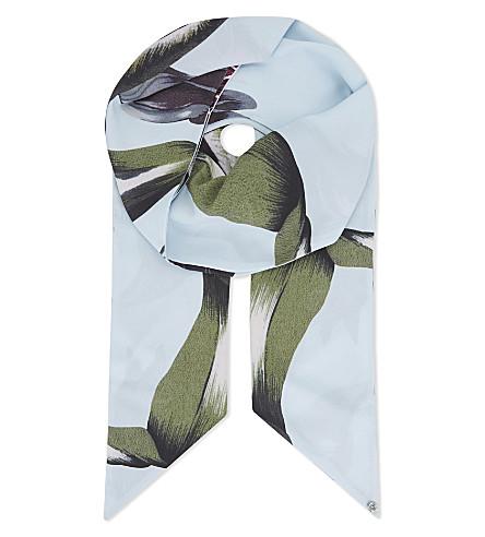 TED BAKER Eden skinny scarf (Pale+blue