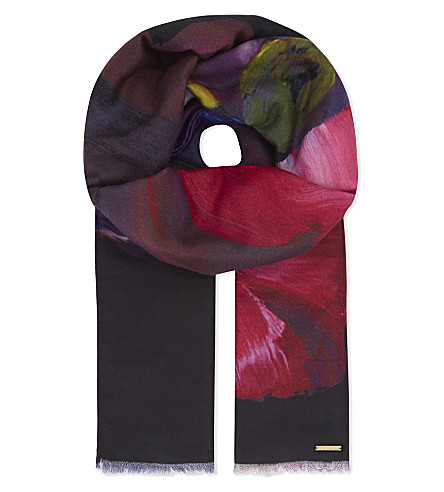 TED BAKER Iziah long scarf (Black