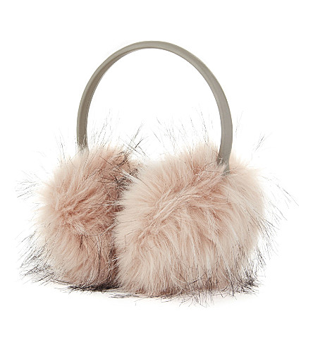 TED BAKER Evelet faux-fur ear muffs (Nude pink