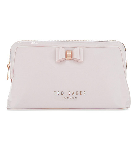 TED BAKER Jana bow large wash bag (Dusky+pink