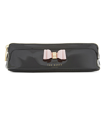 TED BAKER Jass bow patent pencil case (Black