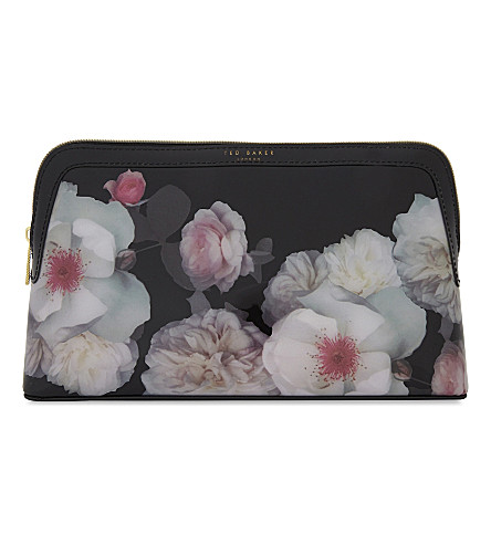 TED BAKER Chelsea floral wash bag (Black