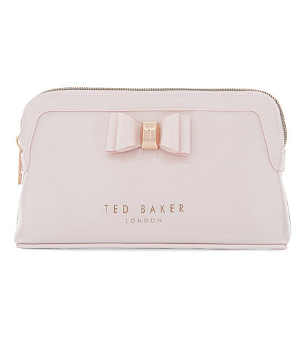 TED BAKER Julis bow wash bag (Dusky+pink