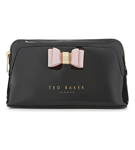 TED BAKER Julis bow wash bag (Black