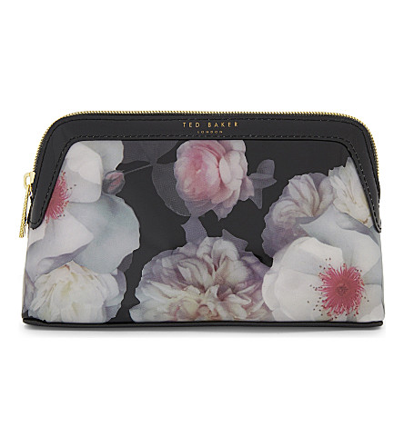 TED BAKER Chelsea floral make up bag (Black