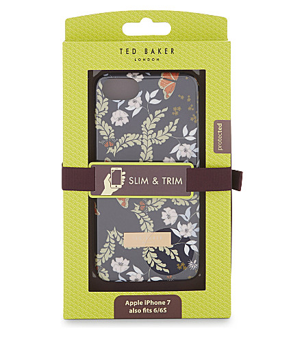 TED BAKER Kyoto floral iPhone case (Mid+blue
