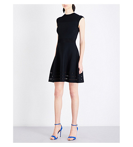 TED BAKER Zaralie stretch-knit skater dress (Black