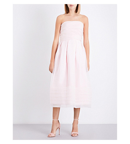 TED BAKER Bandu tiered chiffon maxi dress (Nude+pink