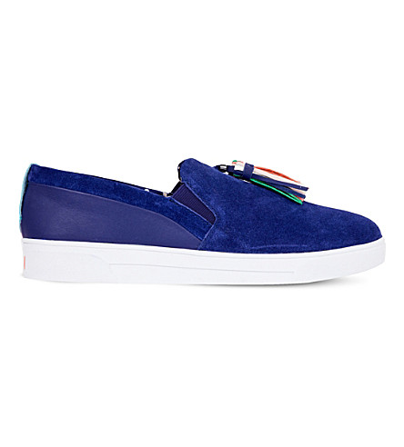 TED BAKER Colour by Numbers katlira moccasin detail ballet flat (Navy