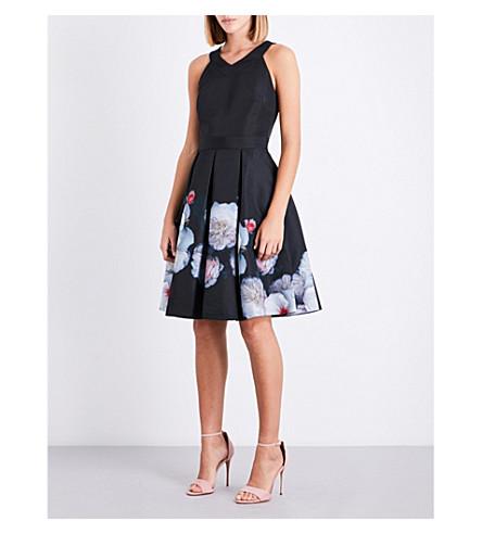 TED BAKER Jelina Chelsea Black-print dress (Black
