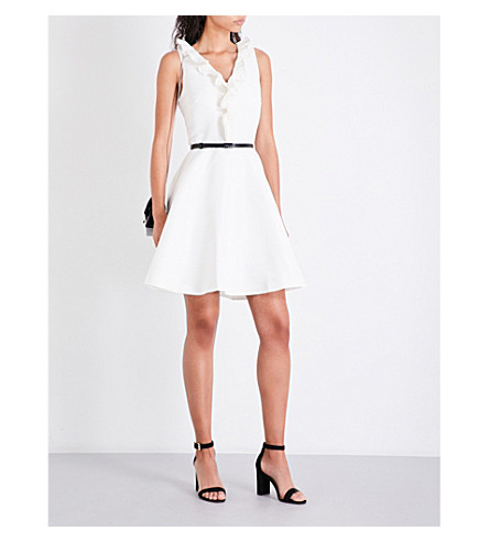 TED BAKER Qwinn ruffled twill dress (Ivory