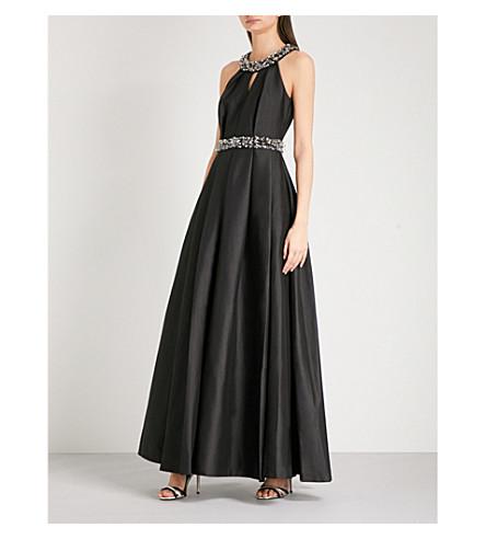 TED BAKER Shelani sleeveless cotton-blend gown (Black
