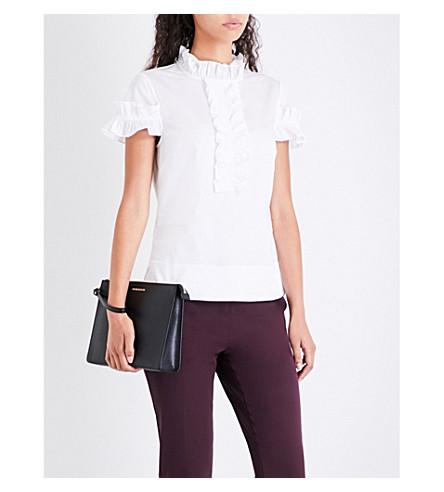 TED BAKER Saidii frilled cotton-poplin blouse (White