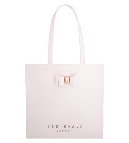 TED BAKER Bethcon 蝴蝶结专利手提包 (黑糊糊 + 粉红色