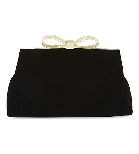 TED BAKER Cena bow-clasp clutch bag (Black