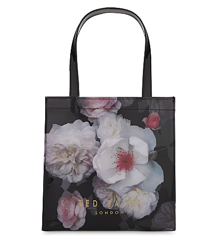TED BAKER Cerycon floral tote (Black