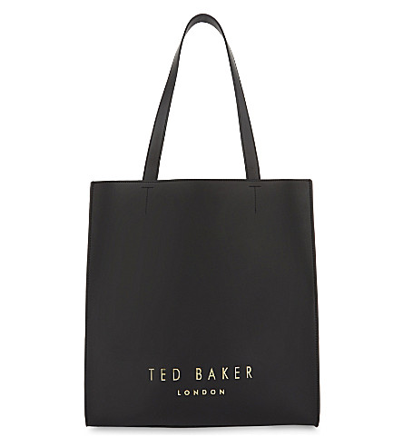 TED BAKER Elissa leather shopper bag (Black