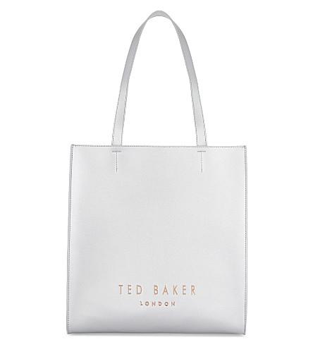 TED BAKER Elissa leather shopper bag (Silver