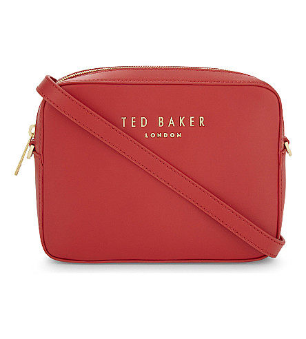 TED BAKER Logo leather cross-body bag (Bright+red