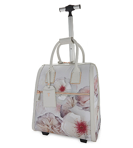 TED BAKER Evi Chelsea floral-print suitcase (Light+grey