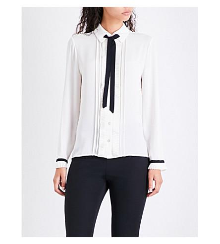 TED BAKER Kavita ruffled crepe shirt (White