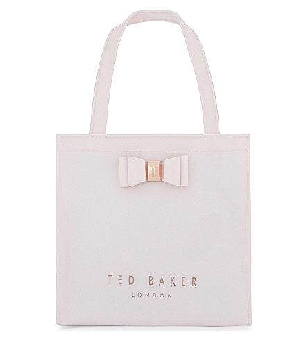 TED BAKER Jenacon bow detail icon bag (Dusky+pink