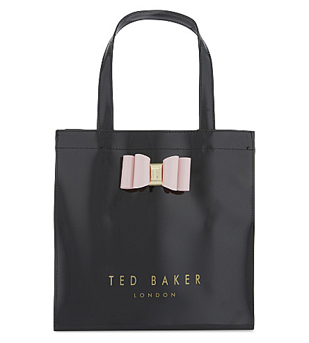 TED BAKER Jenacon bow detail icon bag (Black