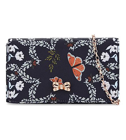 TED BAKER Kailyn floral shoulder bag (Mid+blue