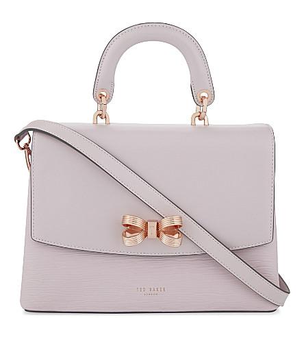 TED BAKER Lauree leather cross-body bag (Dusky+pink