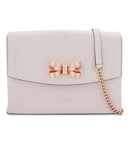 TED BAKER Leiza small cross-body bag (Dusky+pink