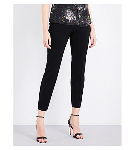 TED BAKER High-rise skinny woven trousers (Black