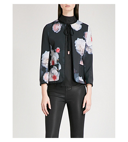 TED BAKER Needine cropped woven jacket (Black