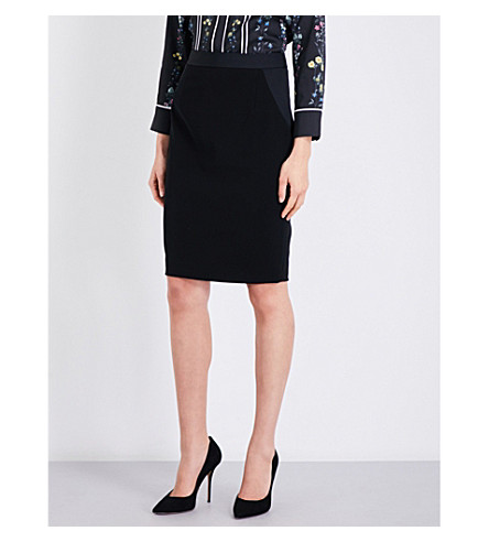 TED BAKER Ottoman high-rise pencil silhouette (Black