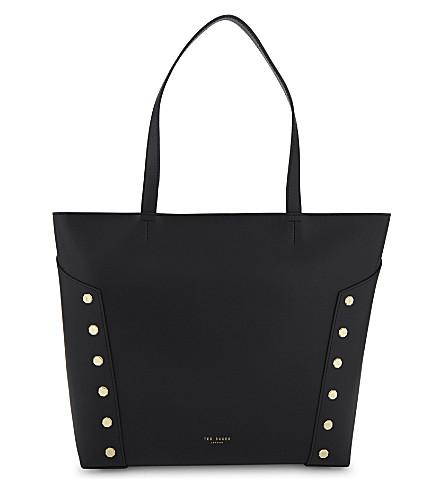 TED BAKER Tamiko leather shopper bag (Black